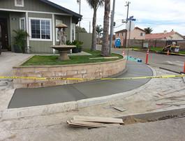 Concrete placed