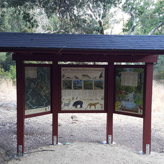 New kiosk on trail