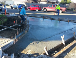Concrete placed at spandrel on Pioneer and 2nd Street