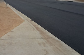 New driveway approach and pavement completed