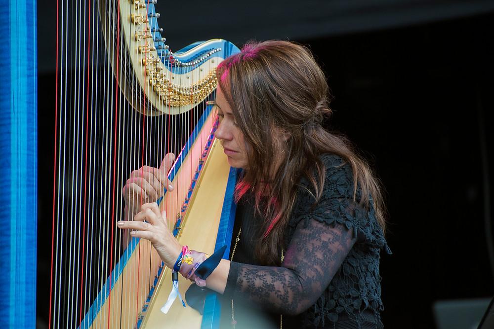 Amanda Whiting playing at Pori Jazz Festival