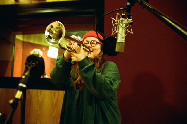 Emma-Jean Thackray in the Artone Studios - Credit: Elaine Groenestein
