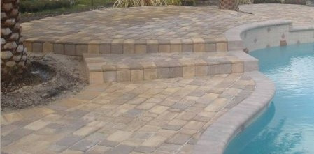 Old Miami Paver tan-sandstone taupe mix.
