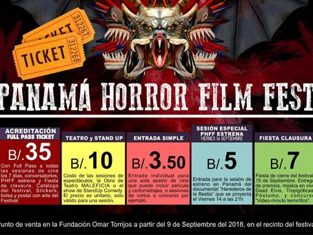 Los precios de las entradas a las actividades del festival: