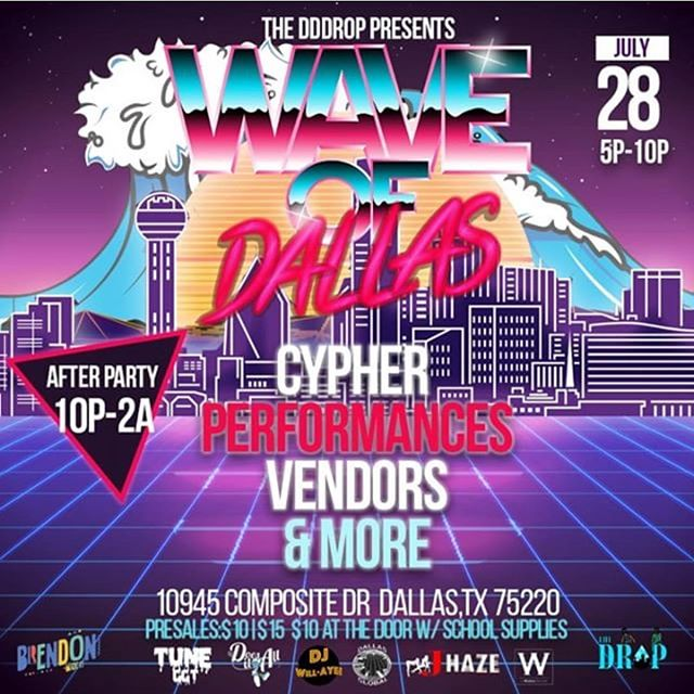 Catch me at #WaveOfDallas July 28th  on