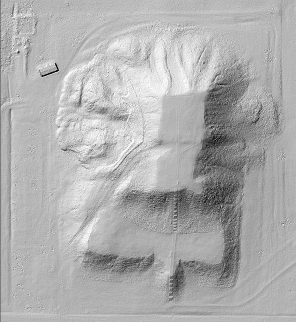 Monks Mound Cahokia, Hillshade image processed by Ali 2017