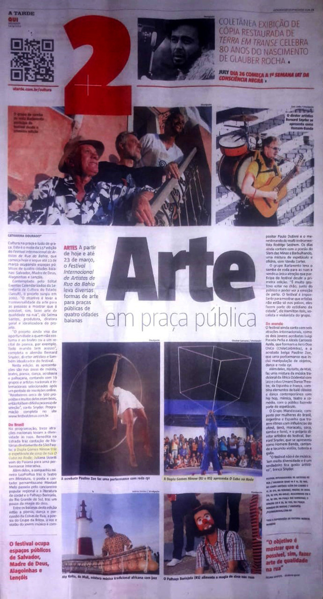 Article about the 15 Bahia Street Art Festival