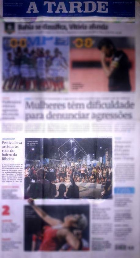 Front page of the newspaper A Tarde