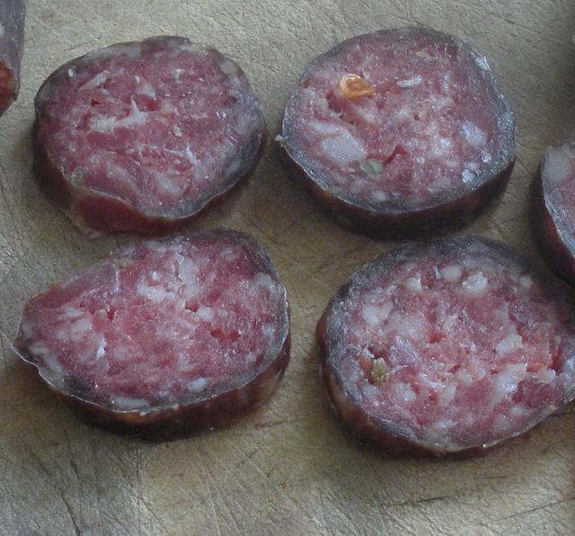 fermented salami grauer Rand