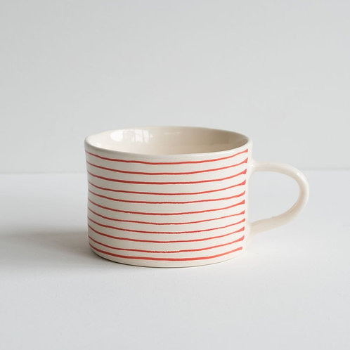Musango striped mug color Red