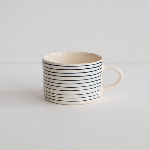 Musango striped mug color Dark Blue