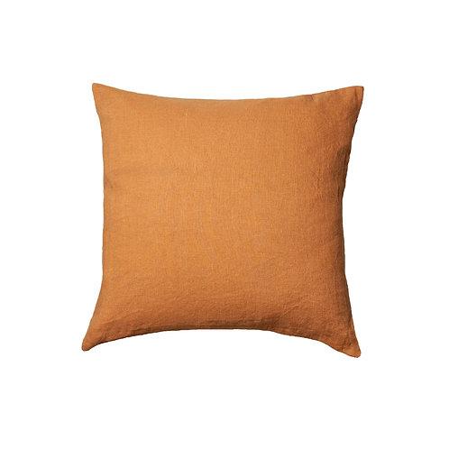 Costa Ricas, stonewashed linnen vierkant Oranje - 50x50 cm
