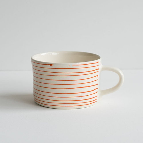 Musango striped mug color Tangerine
