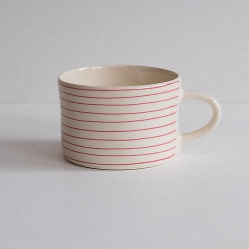 Musango striped mug color Pink