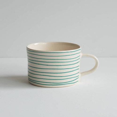 Musango striped mug color Mint