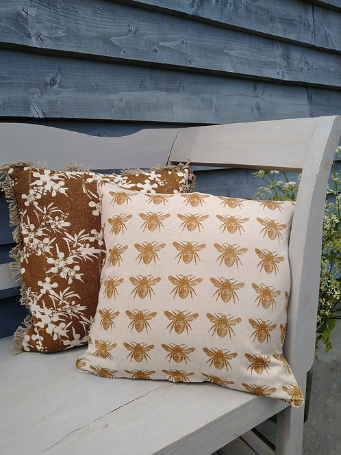 Mustard Bee Cushion