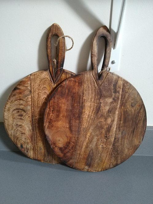 Rustic Dark Wood Chopping Board