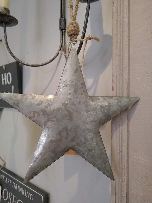Silver hanging star 25cm