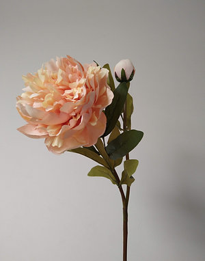 Peach Peony Rose Faux Flower