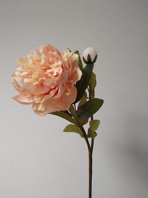 Peach Peony Rose Faux Flower