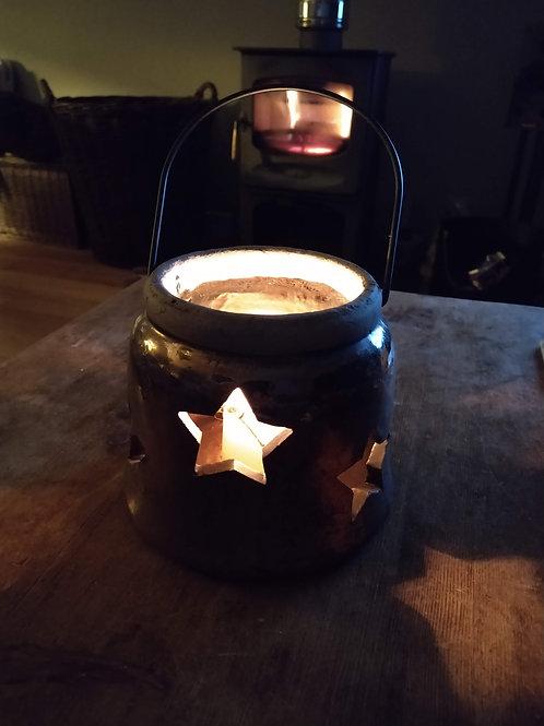 Antique Bronze Finish Star Lantern