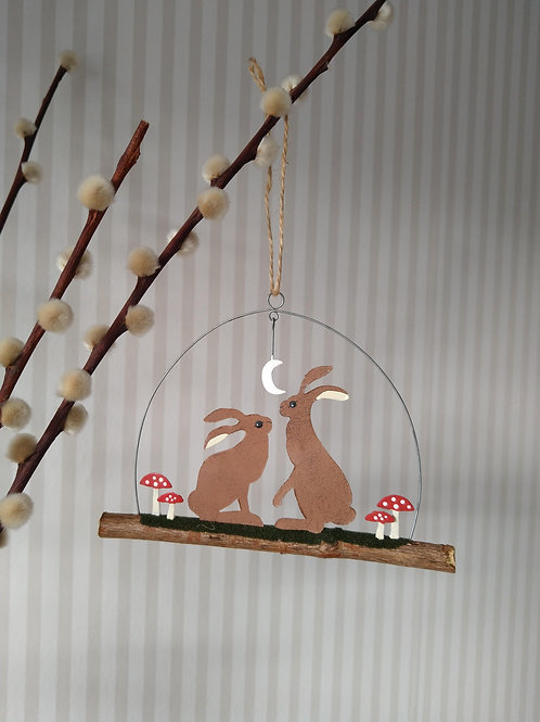 Hare's on a twig Easter decoration
