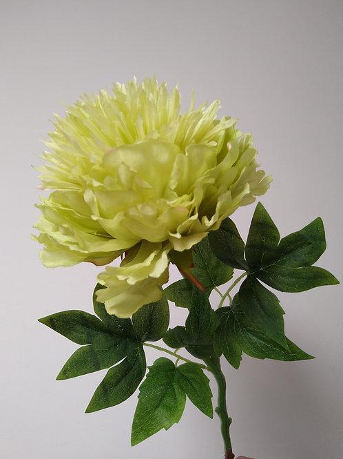 Green Peony Faux Flower