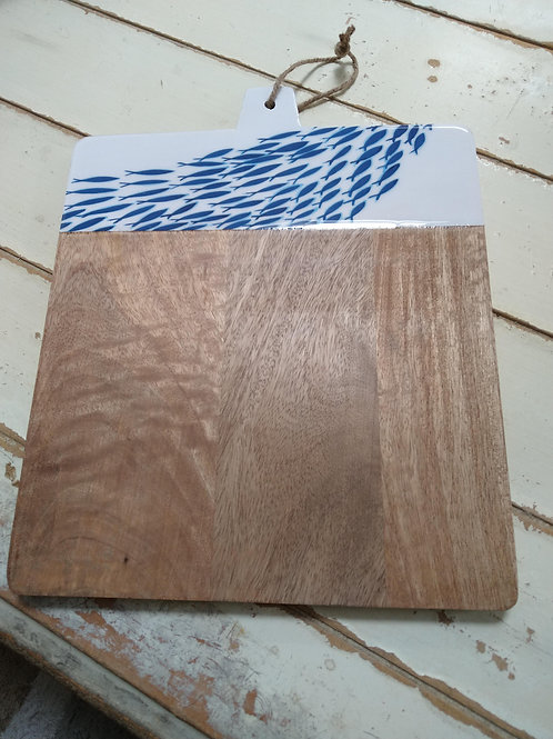 Nautical Chopping Board with Fish Design