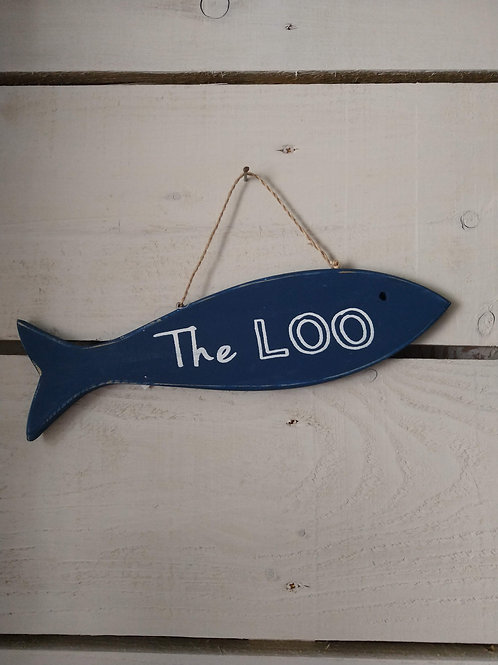 Rustic LOO Sign