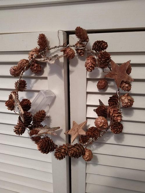 Copper Cone and Star Wreath