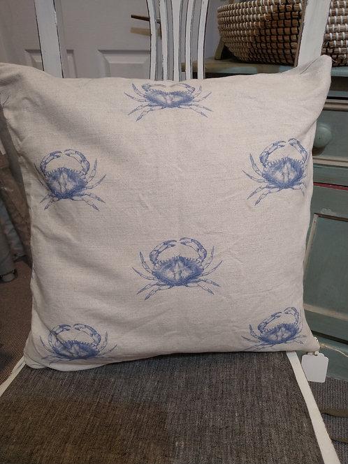 Emily Bond crab fabric cushion