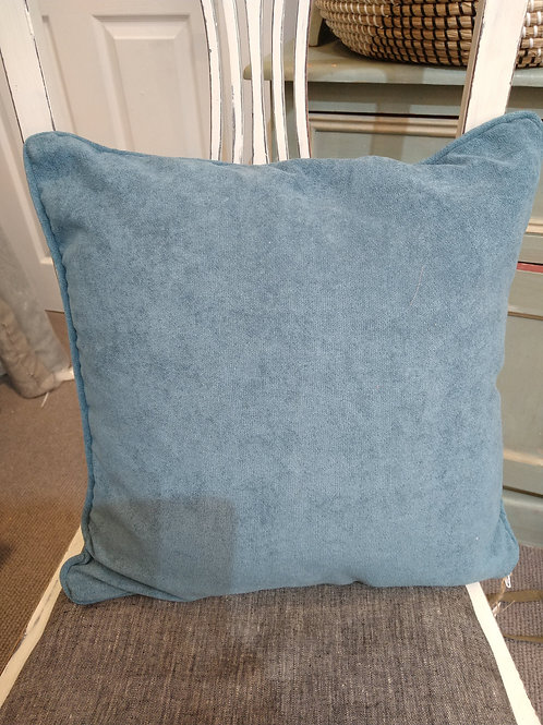 Teal Blue piped cushion