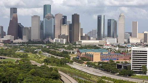 Zoom Background #1  Houston Skyline