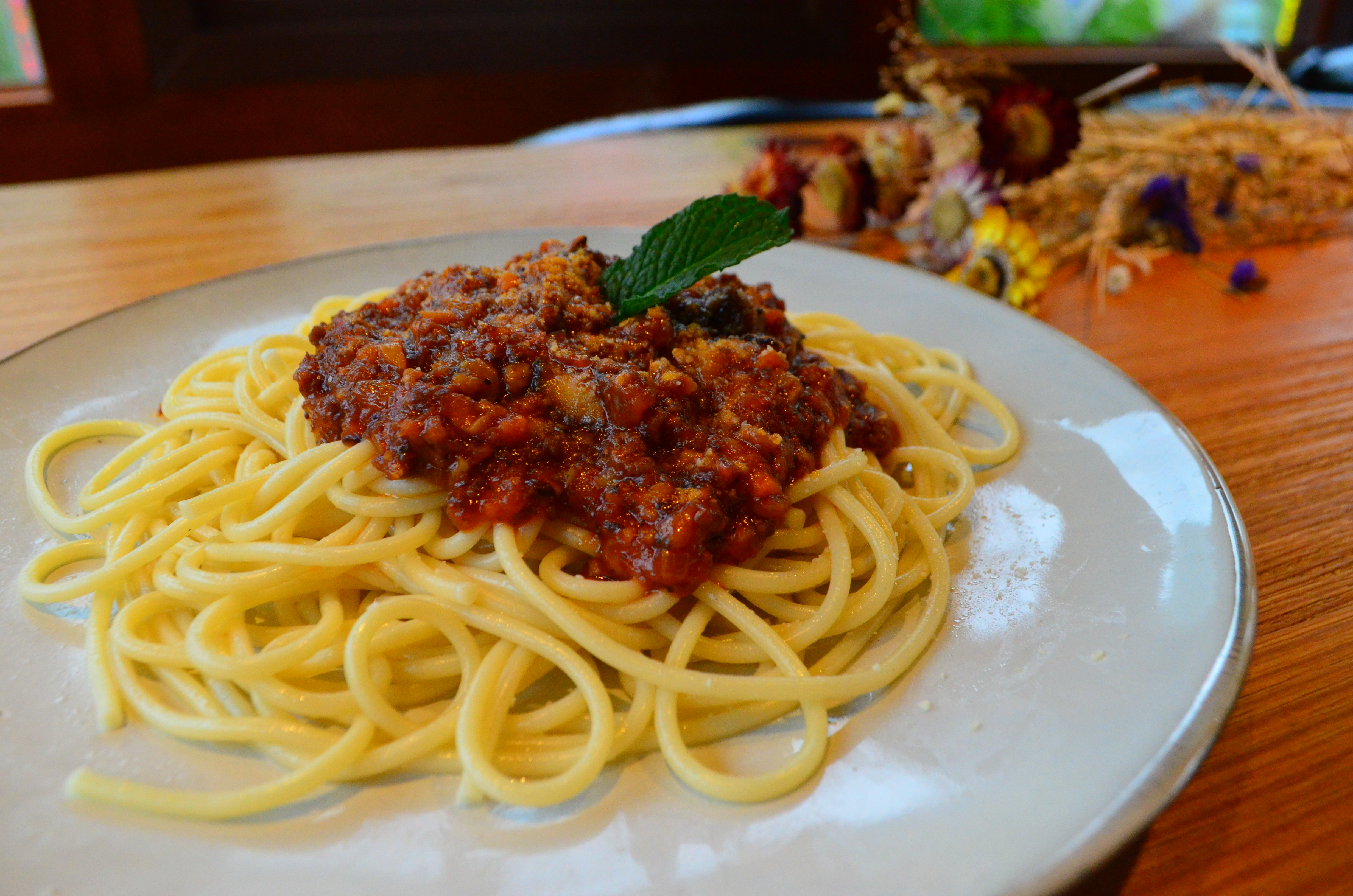 Tibetan Yak Spaghetti Bolognese