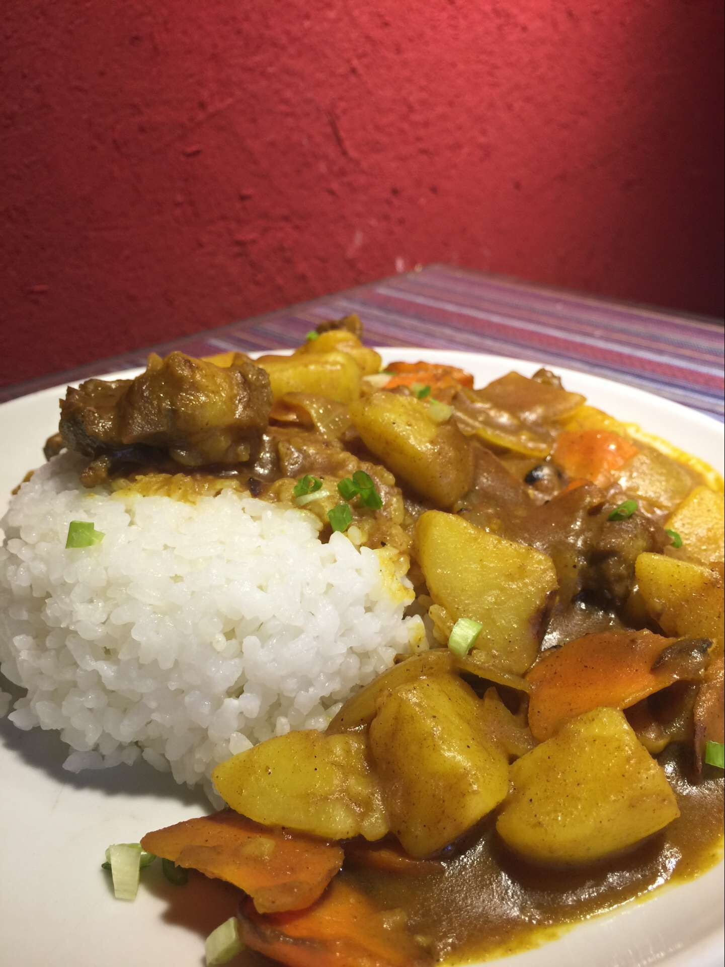 Curried Yak and Rice