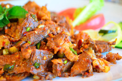 Yak meat with sauce