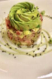 Start dinner with Tuna Tartar, a great w