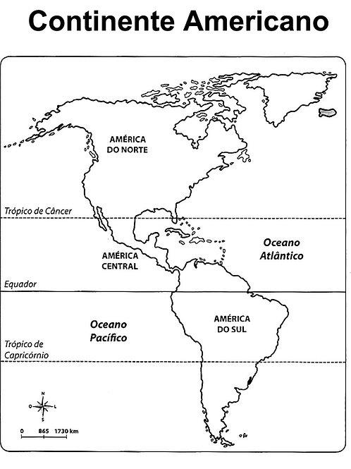 Mapa Continente Americano Papeleria
