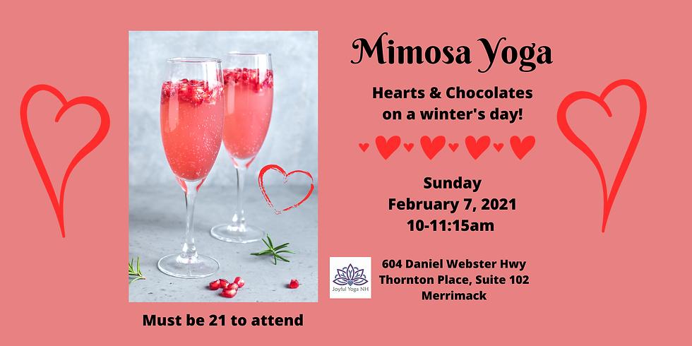Hearts & Chocolates Mimosa Yoga