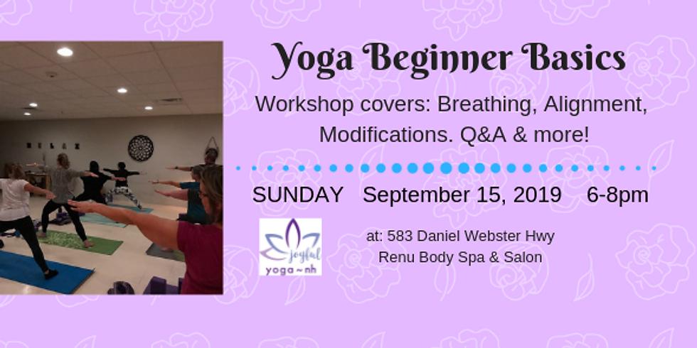 Yoga Beginner Basics Workshop