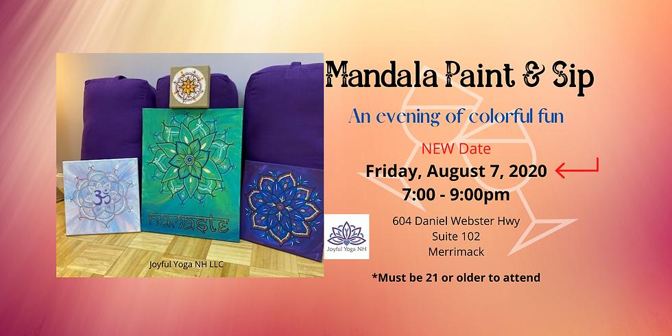 Mandala Paint and Sip