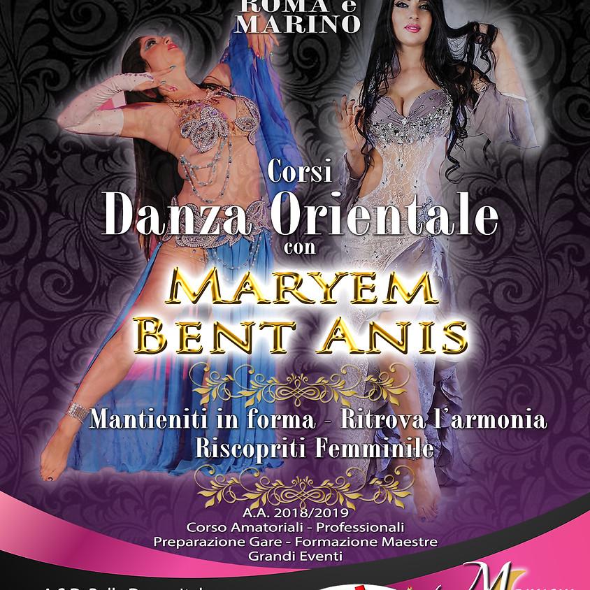 Inizio Corsi Danza Orientale con Maryem Bent Anis
