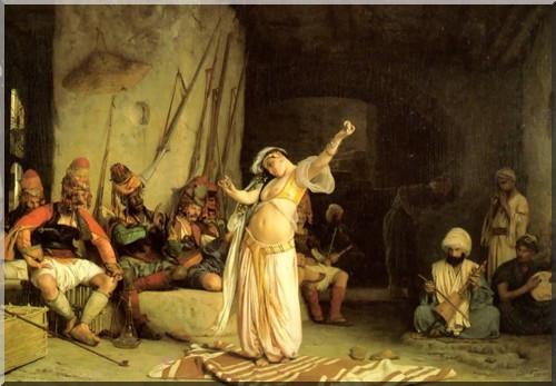 (Jean Léon Gérome, La Danse de l'Almée - 1863, huile sur toile, Dayton Art Institute)