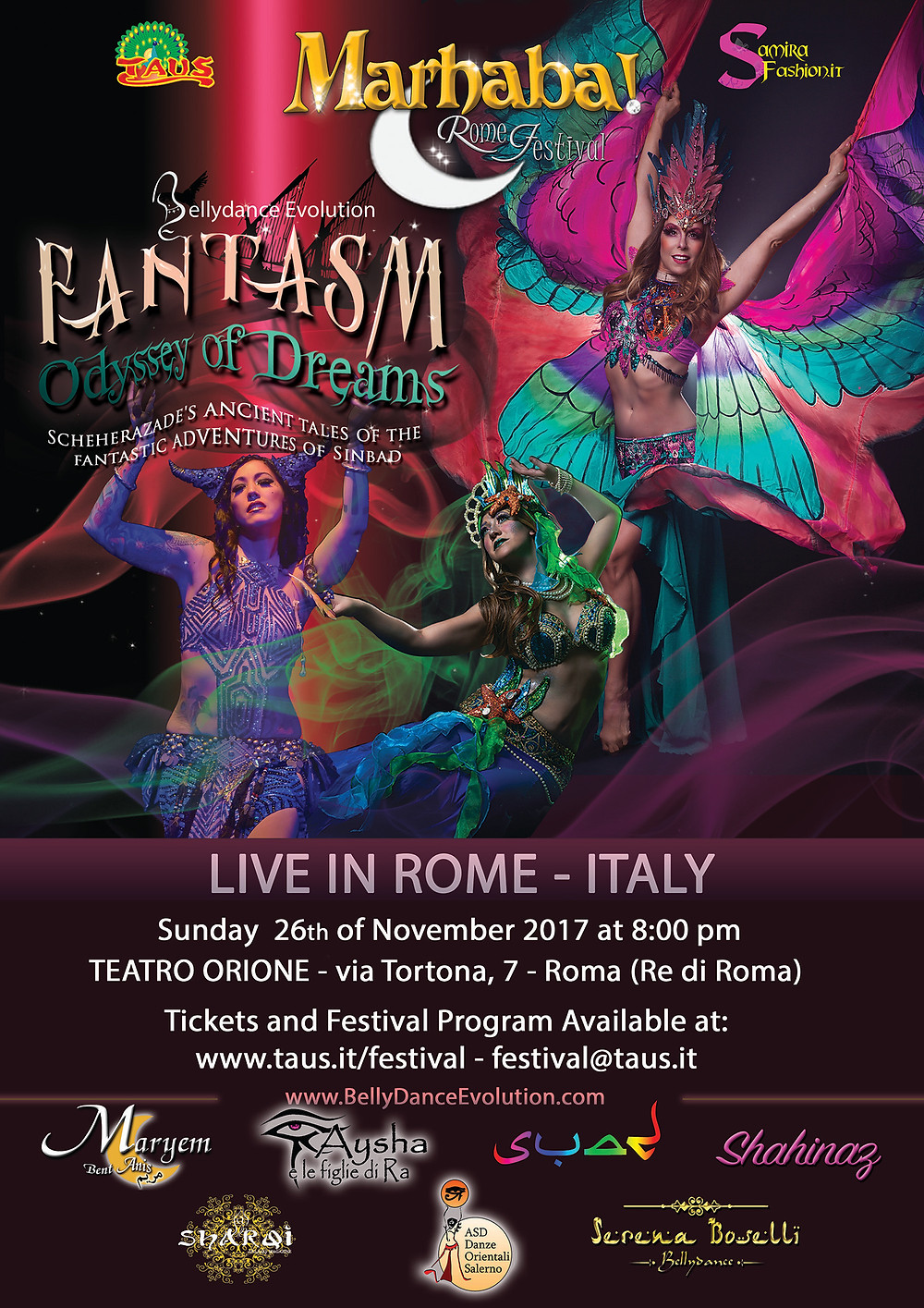 Bellydance  Evolution FANTASM ODISSEY OF DREAMS in Rome