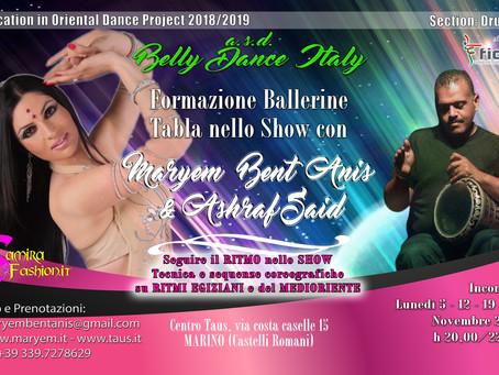 Formazione Ballerine Danza Orientale - Tabla nello Show
