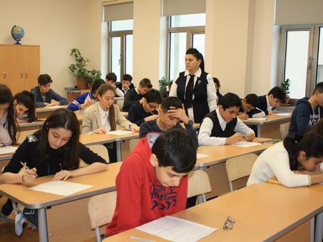 В Баку прошел очередной тур ХI республиканской Олимпиады по русскому языку и литературе. Фоторепорта