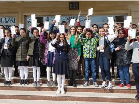 Олимпиада по русскому языку прошла в городах Мингечевире и Евлахе. Фоторепортаж