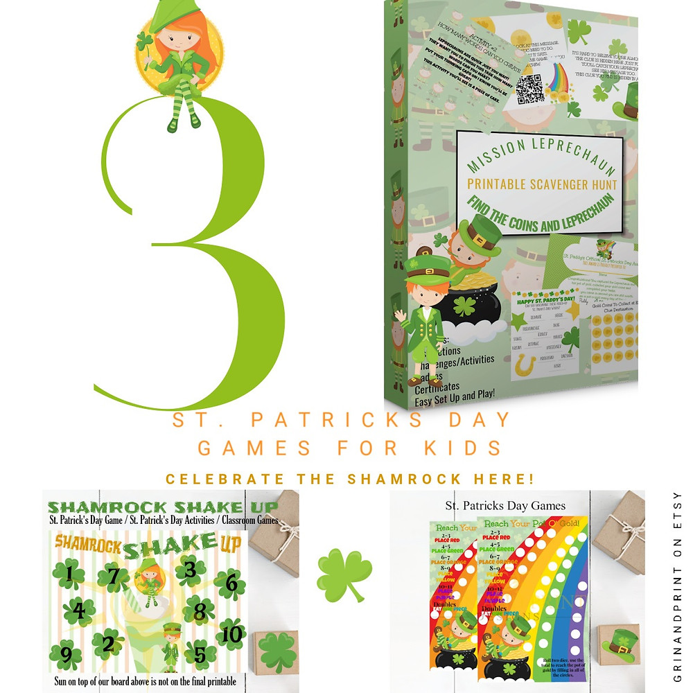 St. Patrick's Day Games, Scavenger Hunt, Dice Games, St. Patricks Day Scratch Off Cards, Leprechauns, Magical Leprechaun Ideas, St. Patricks Day Party Ideas