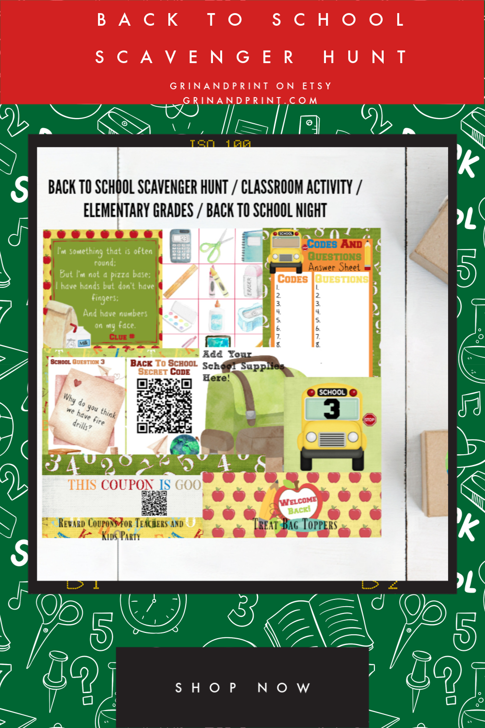 Back to School Scavenger Hunt / Back to School Printable / Back to School Ideas / Back to School Activity / Classroom Activity / Teacher