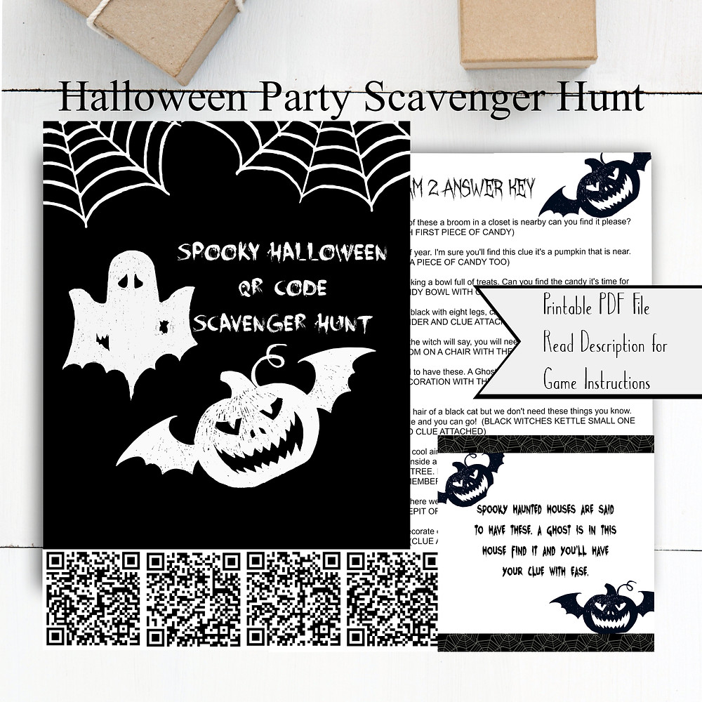 Halloween / Halloween Scavenger Hunt / Halloween Games / Family Game Night / Halloween Party / Halloween Birthday / Halloween Party Ideas